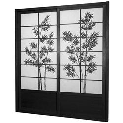 7 Ft Tall Bamboo Tree Shoji Sliding Door Kit