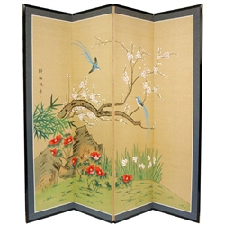 6ft Tall Birds Amp Flowers Decorative Folding Screen