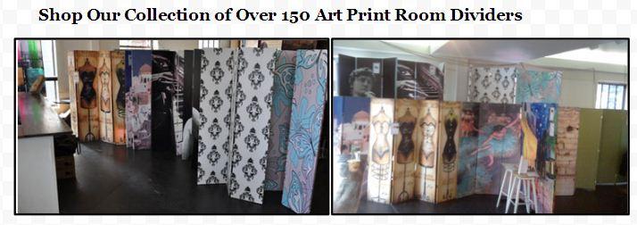 art print theme decorative room divider folding screens
